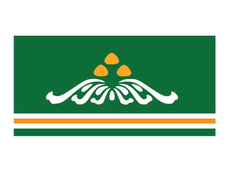 Vector Illustration of the Flag of Mongolian Province of Töv