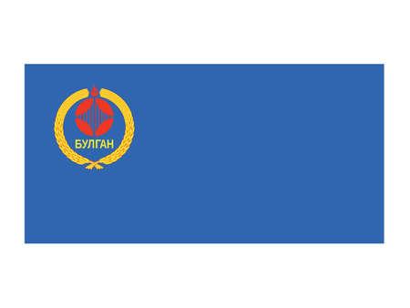 Vector Illustration of the Flag of Mongolian Province of Bulgan