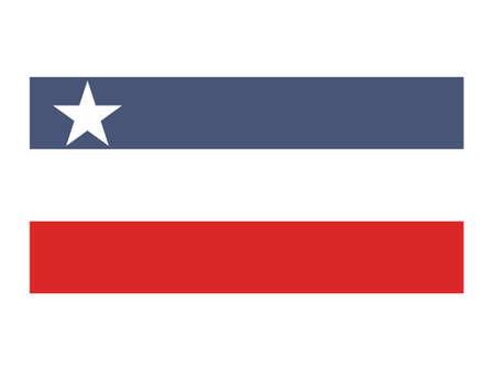 Vector Illustration of the Flag of Myanmar/Burmese State of Kayin