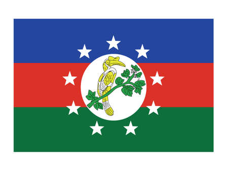 Vector Illustration of the Flag of Myanmar/Burmese State of Chin
