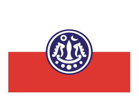 Vector Illustration of the Flag of Myanmar/Burmese State of Rakhine Stock Illustratie