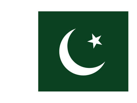 Vector Illustration of the National Flag of Pakistan