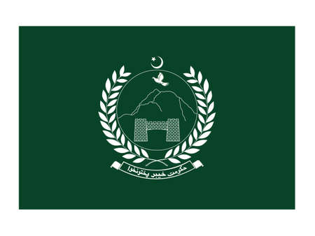 Vector Illustration of the Flag of Pakistani Province of Khyber Pakhtunkhwa