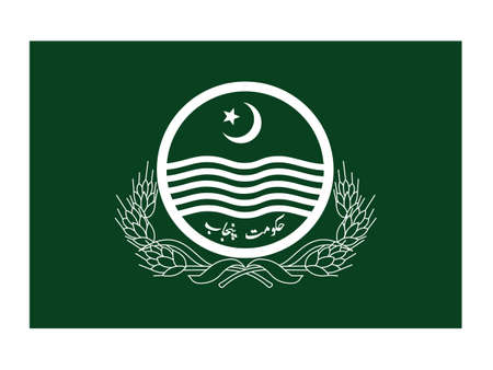 Vector Illustration of the Flag of Pakistani Province of Punjab