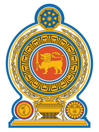 Vector Illustration of the National Emblem of Democratic Socialist Republic of Sri Lanka