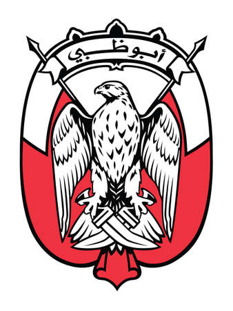 Vector Illustration of the Coat of Arms of the Abu Dhabi Emirate