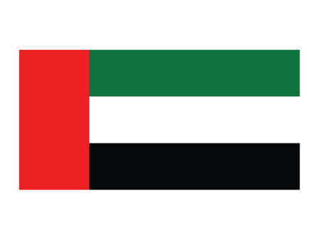 Vector Illustration of the National Flag of the United Arab Emirates
