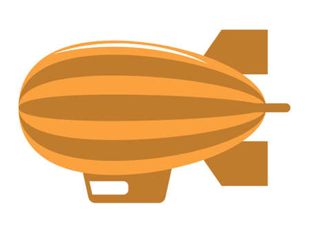 Vector Illustration of a Colorful Cartoon Blimp Dirigible