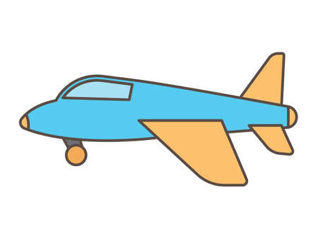 Vector Illustration of a Colorful Cartoon Airplane