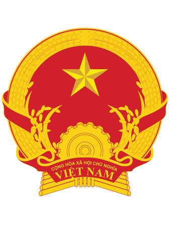 Vector Illustration of the National Emblem of the Socialist Republic of Vietnam