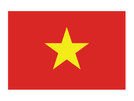 Vector Illustration of the National Flag of the Socialist Republic of Vietnam Иллюстрация