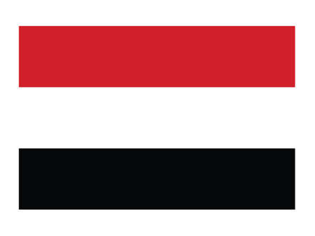 Vector Illustration of the National Flag of the Republic of Yemen