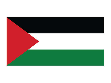 Vector Illustration of the National Flag of the State of Palestine Иллюстрация