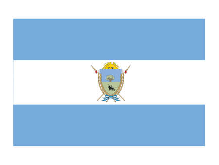 Flat Flag of the Argentinian Province of La Pampa