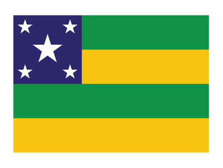 Flat Vector Flag of the Brazilian State of Sergipe