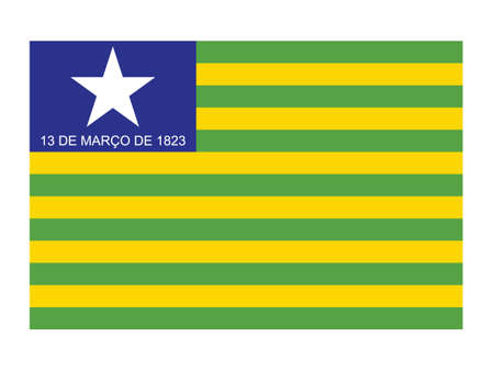 Flat Vector Flag of the Brazilian State of Piauí