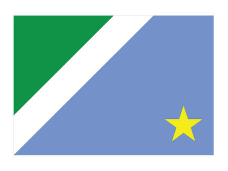 Flat Vector Flag of the Brazilian State of Mato Grosso do Sul