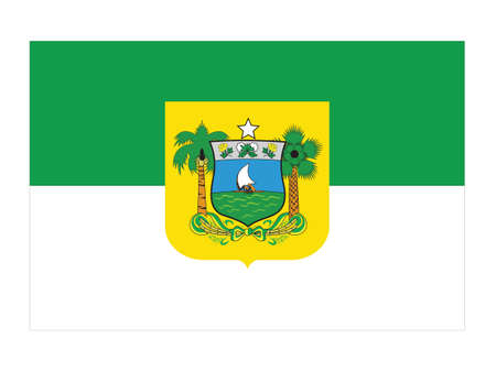 Flat Vector Flag of the Brazilian State of Rio Grande do Norte Illustration