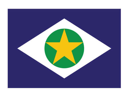 Flat Vector Flag of the Brazilian State of Mato Grosso
