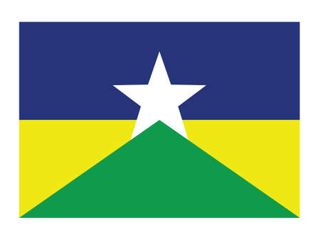 Flat Vector Flag of the Brazilian State of Rondônia Illustration