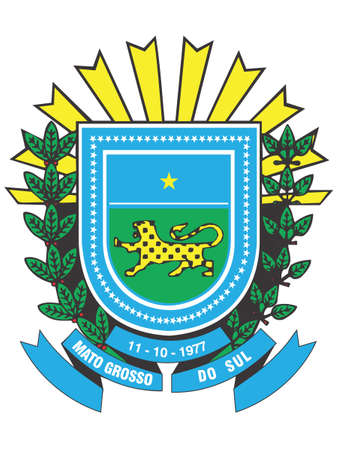 Flat Vector Emblem of the Brazilian State of Mato Grosso do Sul