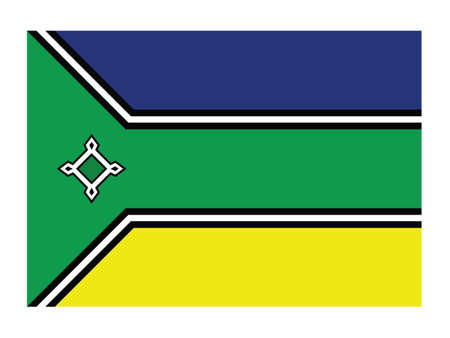 Flat Vector Flag of the Brazilian State of Amapá