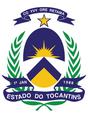 Flat Vector Emblem of the Brazilian State of Tocantins