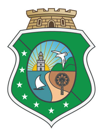 Flat Vector Emblem of the Brazilian State of Ceará