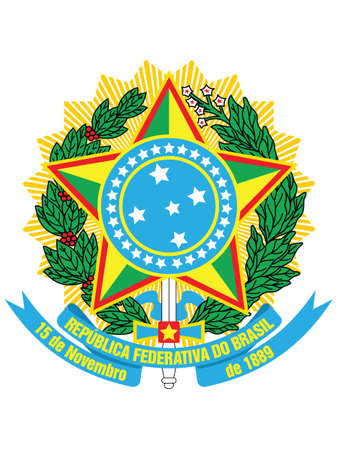 Vector Illustration of the National Emblem of the Federative Republic of Brazil