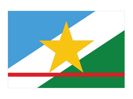 Flat Vector Flag of the Brazilian State of Roraima
