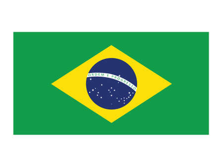 Vector Illustration of the National Flag of the Federative Republic of Brazil Illustration
