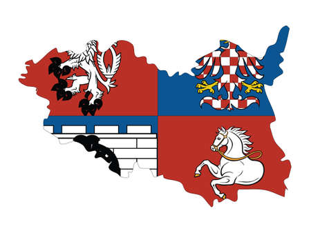 Vector Illustration of the Czech Region of Pardubice