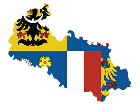 Vector Illustration of the Czech Region of Moravia-Silesia