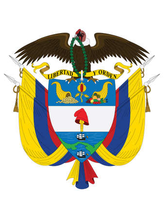 Vector Illustration of the National Coat of Arms of the Republic of Colombia Vecteurs