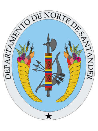 Flat Vector Coat of Arms of the Colombian Department of Norte de Santander Illustration
