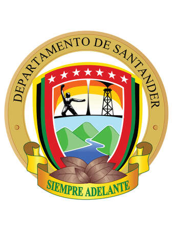 Flat Vector Coat of Arms of the Colombian Department of Santander