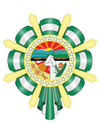 Flat Vector Coat of Arms of the Colombian Department of Cesar