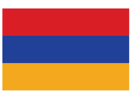 Vector Illustration of the Historical Timeline Current Flag of Armenia, from 1992 to today  イラスト・ベクター素材