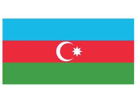 Vector Illustration of the Historical Timeline Current Flag of Azerbaijan  イラスト・ベクター素材
