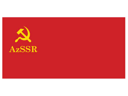 Vector Illustration of the Historical Timeline Flag of the Azerbaijan Soviet Socialist Republic, from 1937 to 1940