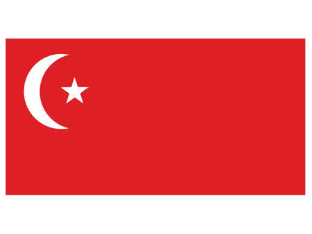 Vector Illustration of the Historical Timeline Flag of the Azerbaijan Soviet Socialist Republic, from 1920 to 1921