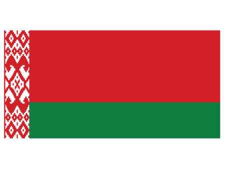 Vector Illustration of the Historical Timeline Current Flag of Belarus