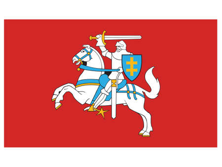 Vector Illustration of the Historical Timeline Historical State Flag of Lithuania