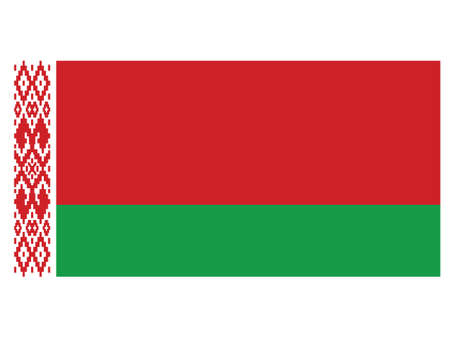 Vector Illustration of the Historical Timeline Flag of Belarus, from 1995 to 2012 向量圖像