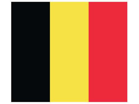 Vector Illustration of the Historical Timeline Current Flag of Belgium  イラスト・ベクター素材