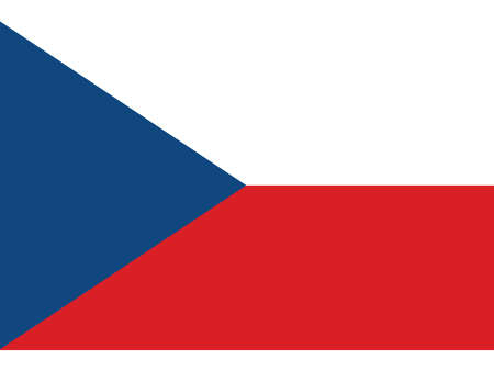 Vector Illustration of the Historical Timeline Current Flag of the Czech Republic