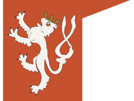 Vector Illustration of the Historical Timeline Royal Banner of the Kingdom of Bohemia (1305)