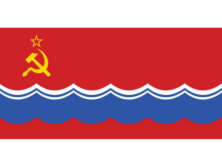Vector Illustration of the Historical Timeline Flag of the Estonian Soviet Socialist Republic from 1953 to 1990