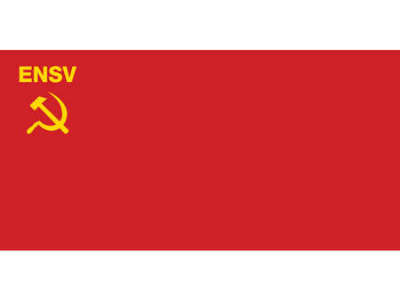 Vector Illustration of the Historical Timeline Flag of the Estonian Soviet Socialist Republic from 1940 to 1953