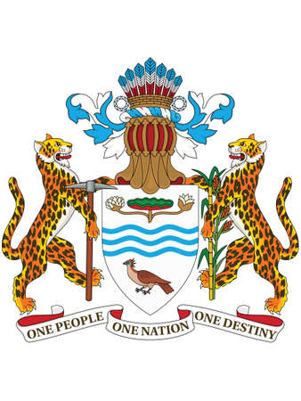 Vector Illustration of the National Emblem of the Co-operative Republic of Guyana